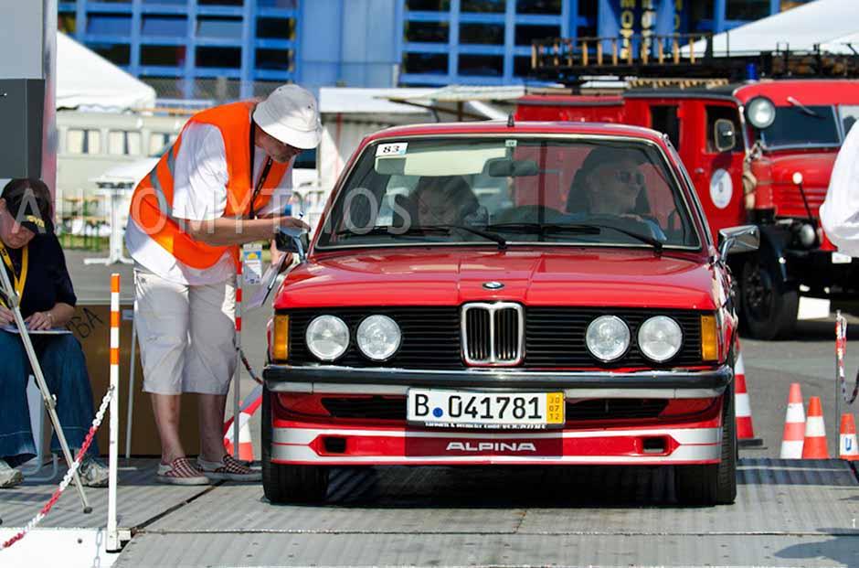 Automythos   2. Avus Classic Rallye 2012   83   Andreas Keßler & Rhoda Keßler   BMW 320 E21 Alpina A1