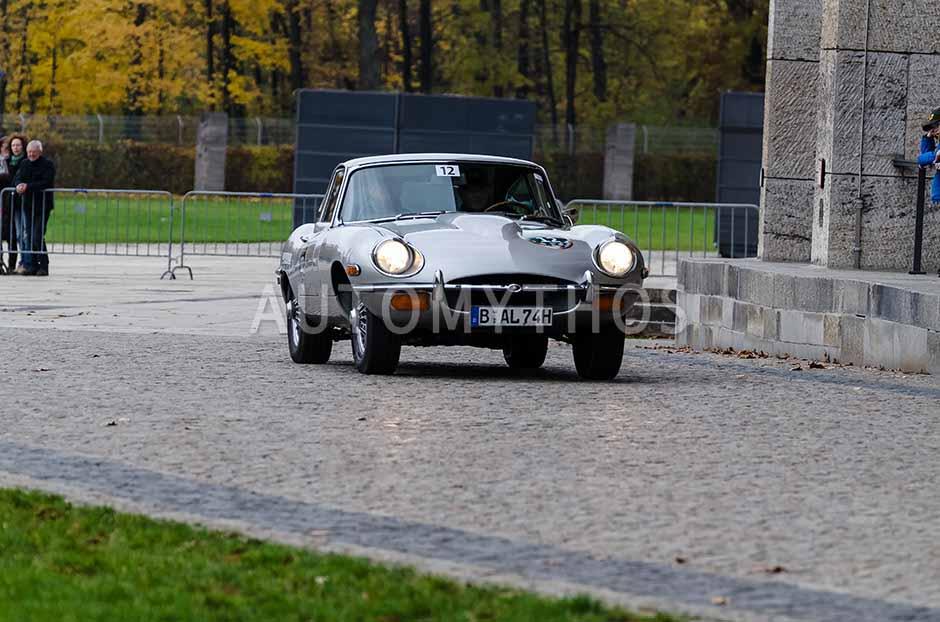 Automythos   1. Herbstfahrt Berlin 2012   12   Andreas Lindner & Jürgen Fiedler   Jaguar E-Type