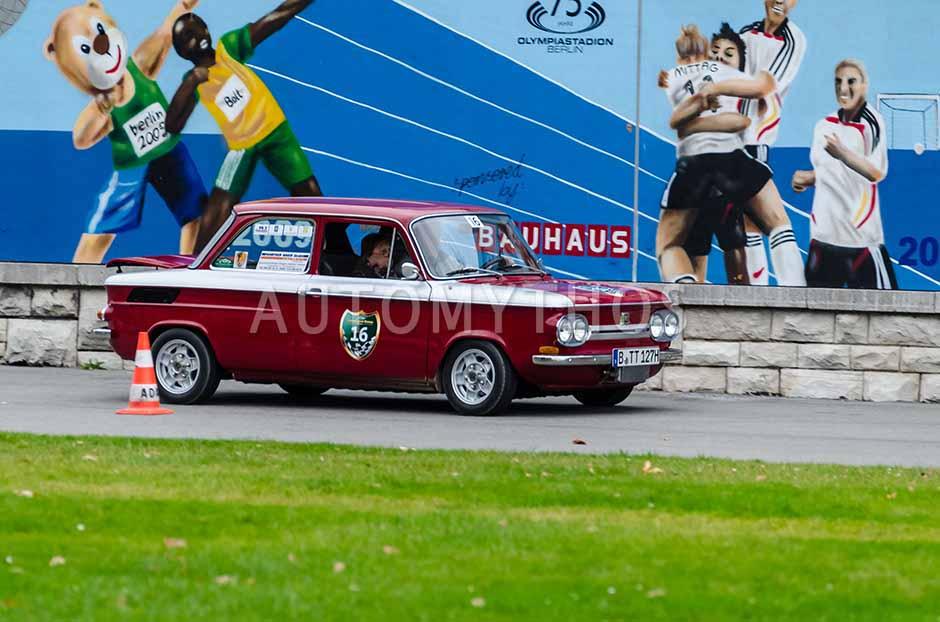 Automythos | 1. Herbstfahrt Berlin 2012 | 16 | Klaus Becker & Christine Becker | NSU 1200 TT