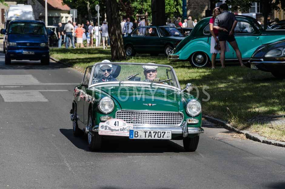 Automythos | 17. Müggelland Rallye 2013 | 41 | Günter Holz & Gion Heidemann | Austin-Healey Sprite MK 1 Frogeye
