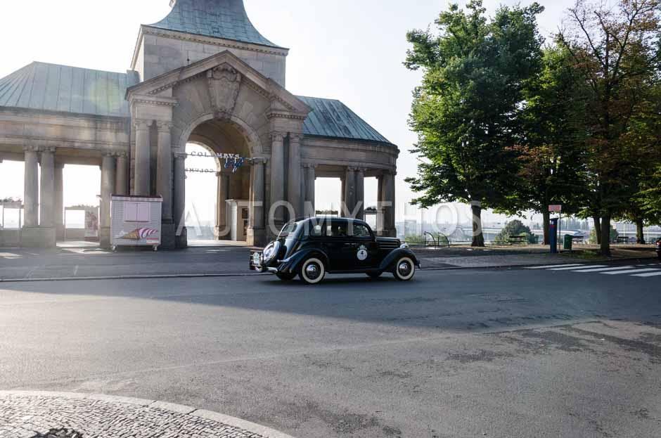 Automythos   7. Hamburg Berlin Klassik 2014   4   Hartwig Petersen & Burkhart Knopke   Ford V8