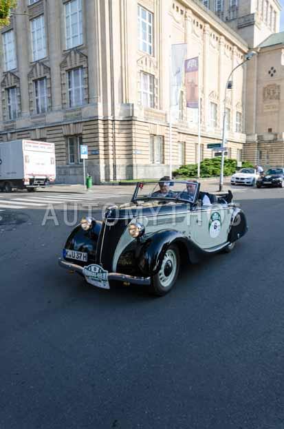 Automythos   7. Hamburg Berlin Klassik 2014   8   Wolfgang Laufer & Andreas Keßler   Ford Eifel Cabriolet