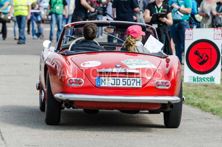 Automythos   7. Hamburg Berlin Klassik 2014   14   Kathrin Müller-Hohenstein & Niclas Schop   BMW 507