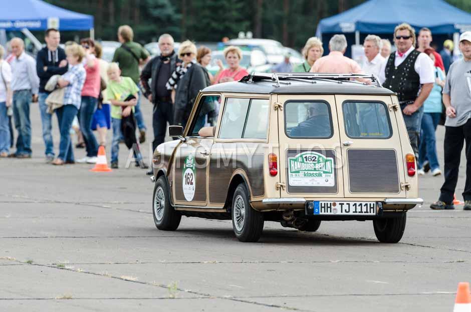 Automythos | 7. Hamburg Berlin Klassik 2014 | 162 | Jens Nodop & Jens Seltrecht | Leyland Mini Clubman
