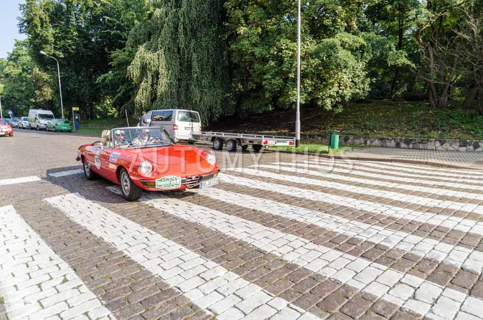 Automythos   7. Hamburg Berlin Klassik 2014   163   Karl-Heinz Ehrhardt & Cornelia Jörke   Alfa Romeo Spider 2000 Fastback