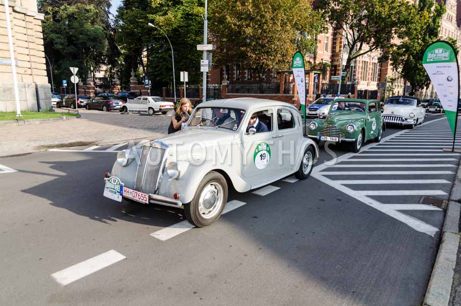 Automythos | 7. Hamburg Berlin Klassik 2014 | 19 | Arnim Leppel & Josef Gazdik | Lancia Aprilia