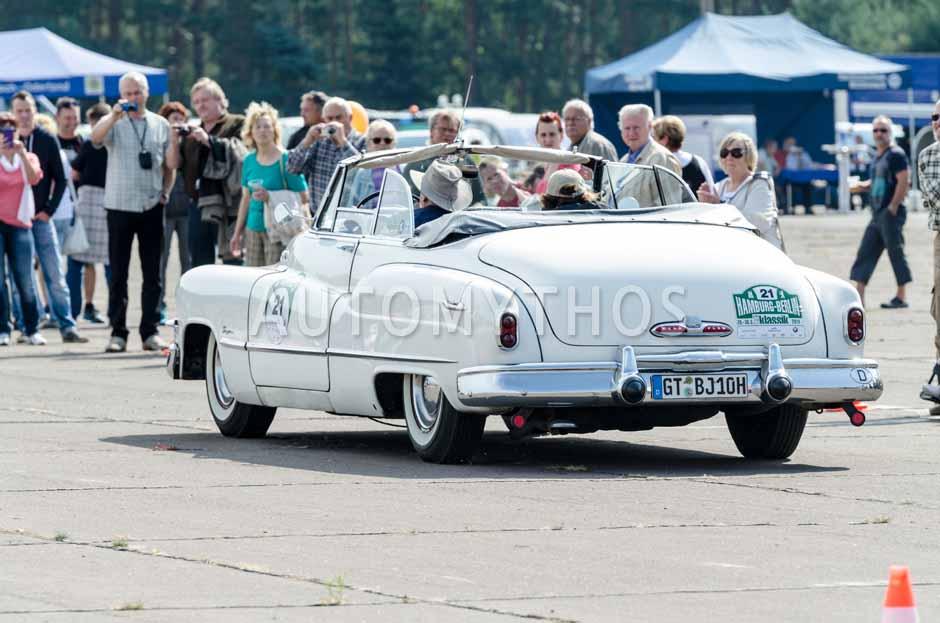 Automythos   7. Hamburg Berlin Klassik 2014   21   Heinz-Alfons Eikenbusch & Mechthild Eikenbusch   Buick Super 56 C