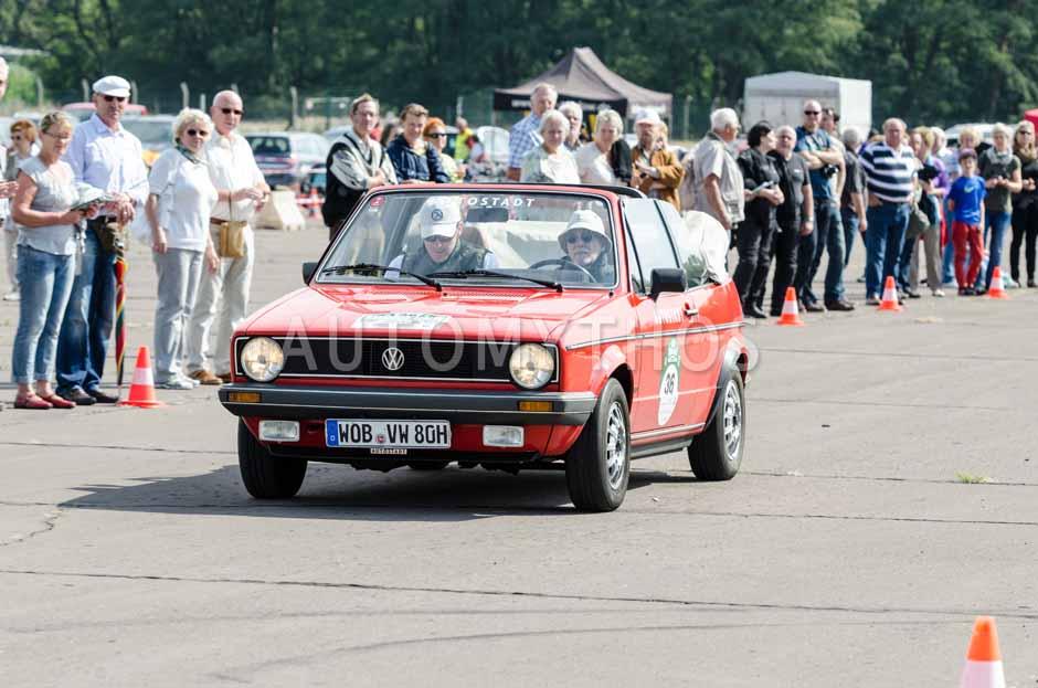 Automythos | 7. Hamburg Berlin Klassik 2014 | 36 | Dirk-Michael Conradt & David Löffler | Volkswagen Golf I Cabriolet