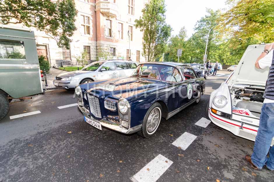 Automythos   7. Hamburg Berlin Klassik 2014   41   Karsten Höhns & Sylvia Ahlers   Facel Vega FV 2 B