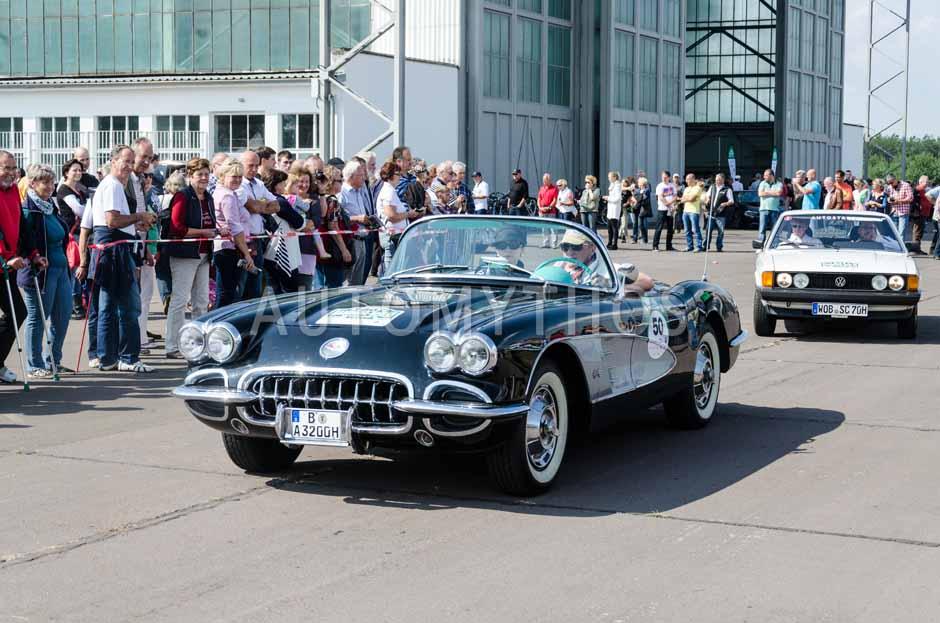 Automythos   7. Hamburg Berlin Klassik 2014   50   Alois Schwarz & Annette Schwarz   Chevrolet Corvette