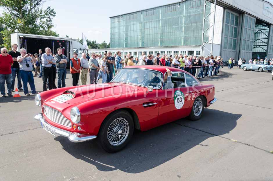 Automythos | 7. Hamburg Berlin Klassik 2014 | 53 | Dierk Berlinghoff & Claudia Berlinghoff | Aston Martin DB4 Serie 2