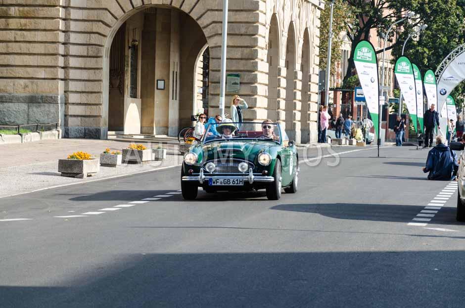 Automythos   7. Hamburg Berlin Klassik 2014   65   Holger Bock & Katrin Kemmerich   Austin-Healey 3000 Mk II