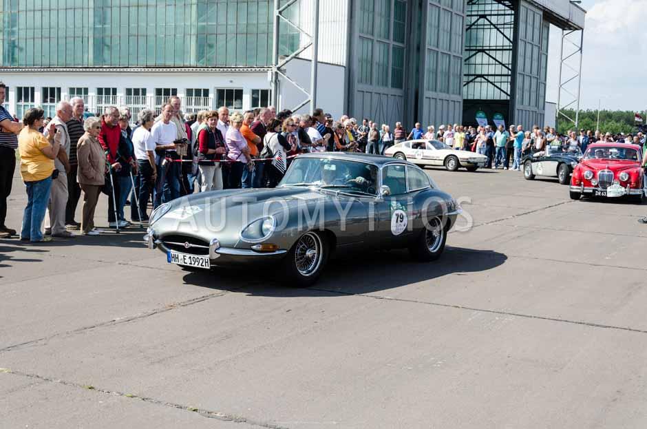 Automythos | 7. Hamburg Berlin Klassik 2014 | 79 | Andreas Teichmann & Babette Teichmann | Jaguar E-Type 4.2 S1