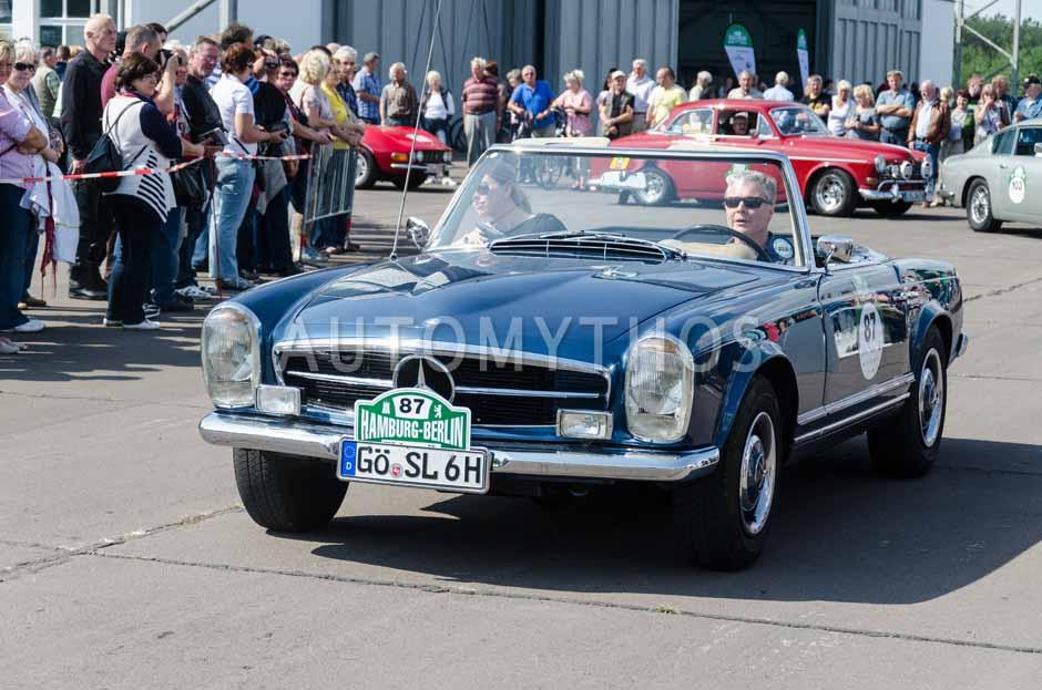 Automythos | 7. Hamburg Berlin Klassik 2014 | 87 | Wilhelm Peinemann & Sonja Peinemann | Mercedes-Benz W113 230 SL Pagode