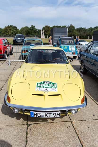 Automythos | 8. Hamburg Berlin Klassik 2015 | 142 | Jockel Winkelhock & Uwe Mertin | Opel GT