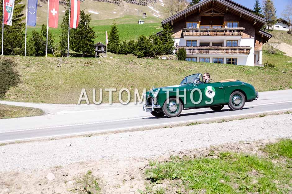 Automythos | 5. Bodensee Klassik 2016 | 14 | Matthias Hübener & Jutta Hübener | Austin A40 Sports