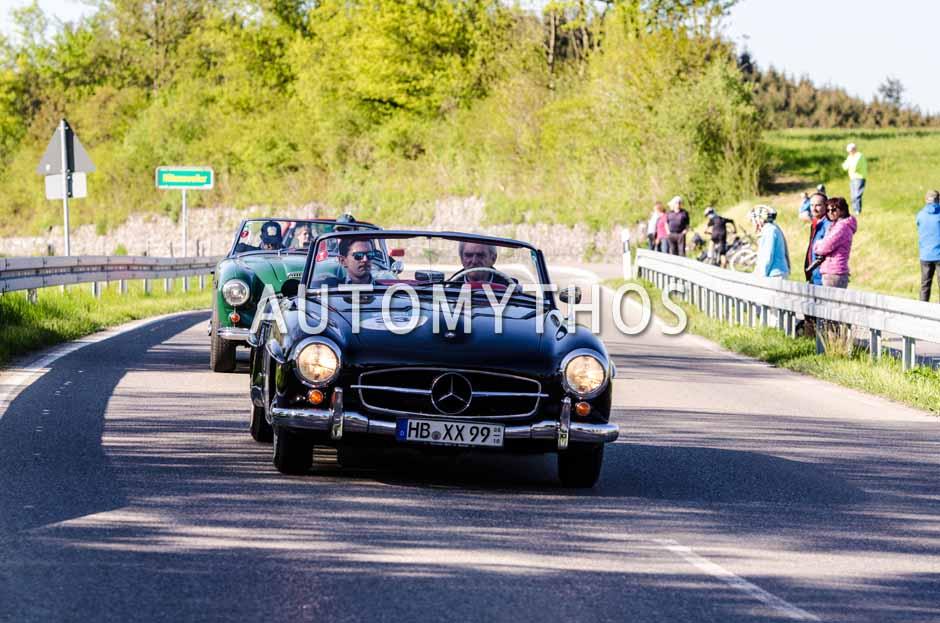 Automythos   5. Bodensee Klassik 2016   33   Dr. Georg Garrels & Sven Garrels   Mercedes-Benz 190 SL