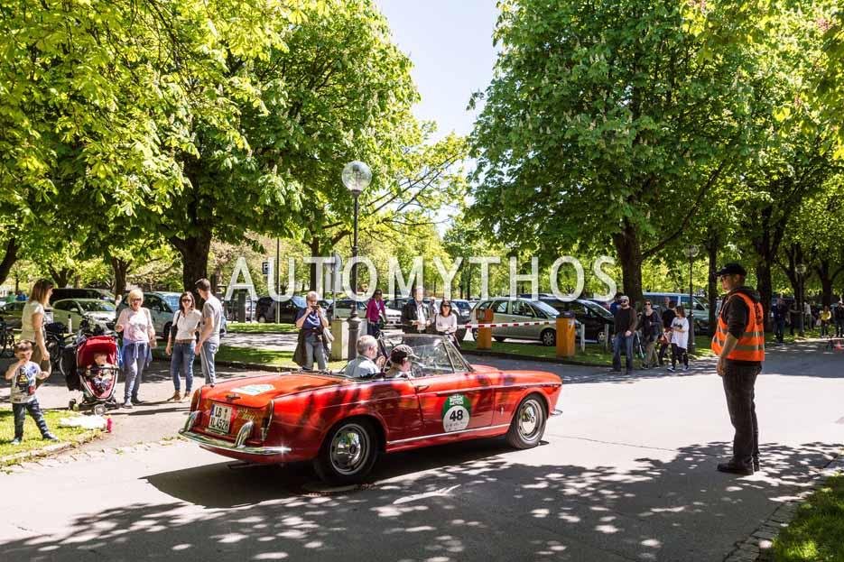 Automythos | 5. Bodensee Klassik 2016 | 48 | Dr. Andreas Häcker & Irene Häcker | Fiat OSCA 1600 S Cabriolet