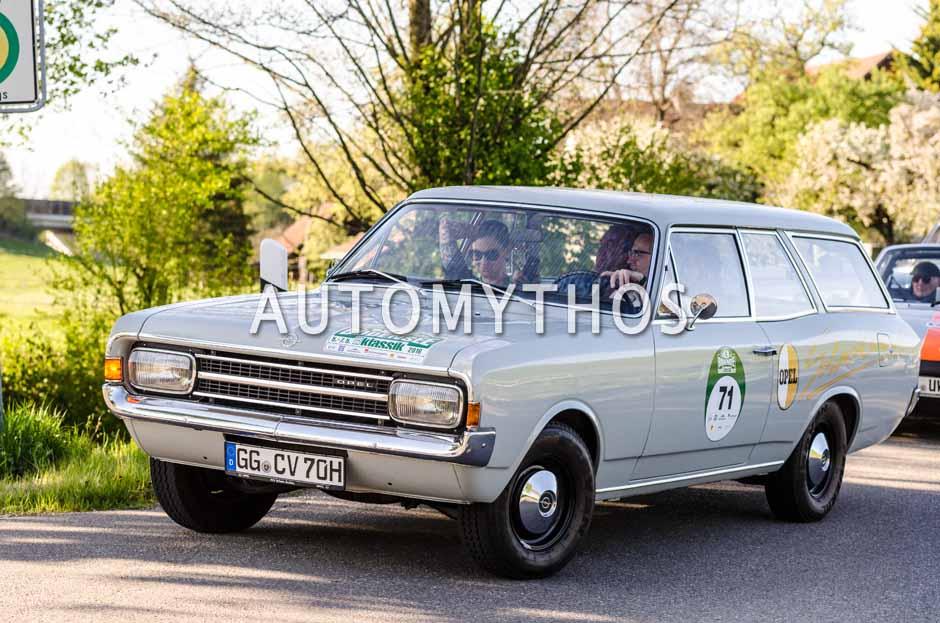 Automythos   5. Bodensee Klassik 2016   71   Frank B. Meyer & Lina van de Mars   Opel Rekord C