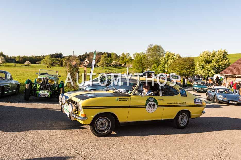 Automythos | 5. Bodensee Klassik 2016 | 105 | Juergen Acker & Bernd Schulze | Opel Kadett B Coupé Rallye