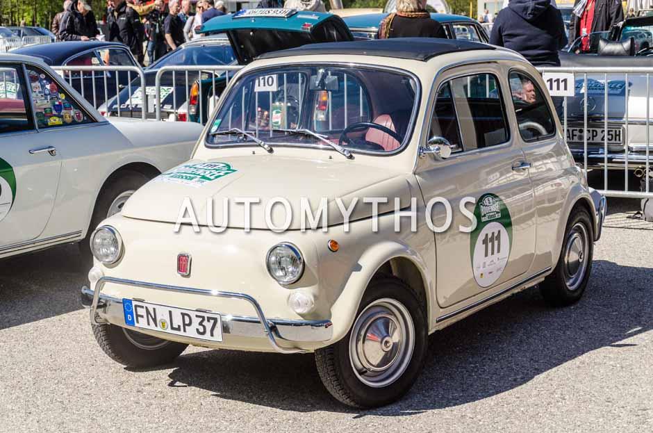 Automythos | 5. Bodensee Klassik 2016 | 111 | Luigi Patamisi & Carolin Heinrich | Fiat 500