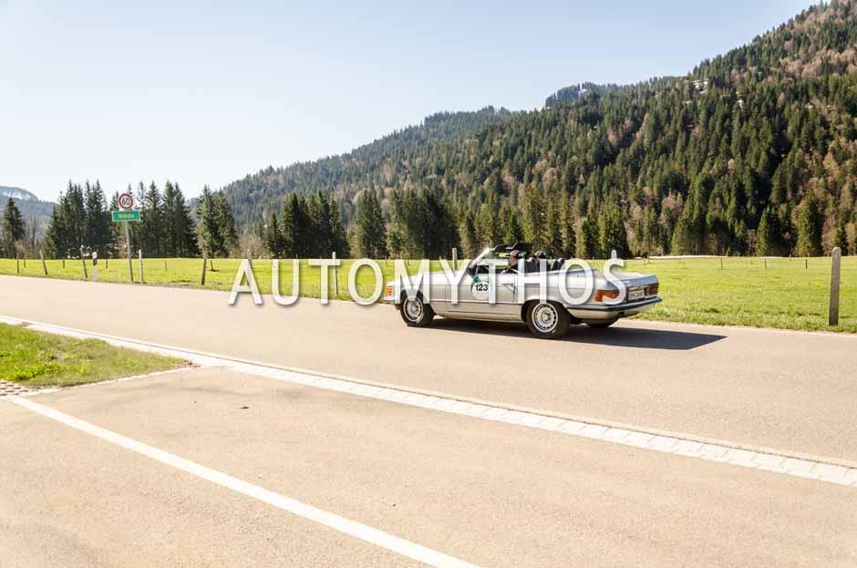 Automythos | 5. Bodensee Klassik 2016 | 123 | Martin Jahn & Tamara Jaritz | Mercedes-Benz 350 SL