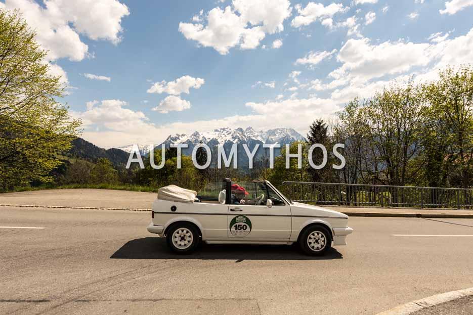 Automythos | 5. Bodensee Klassik 2016 | 150 | Marianne Thanner & Jonas Quatmann | Volkswagen Golf I Cabriolet