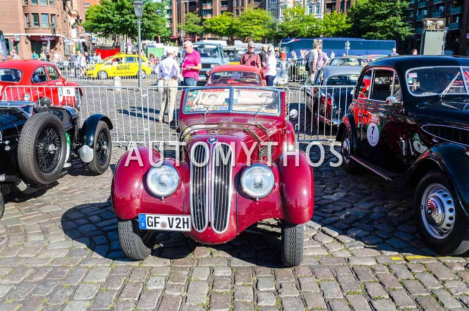 Automythos | 9. Hamburg Berlin Klassik 2016 | 6 | Otto Schloz & Katharina Schloz | BMW 328 Autenrieth Cabriolet