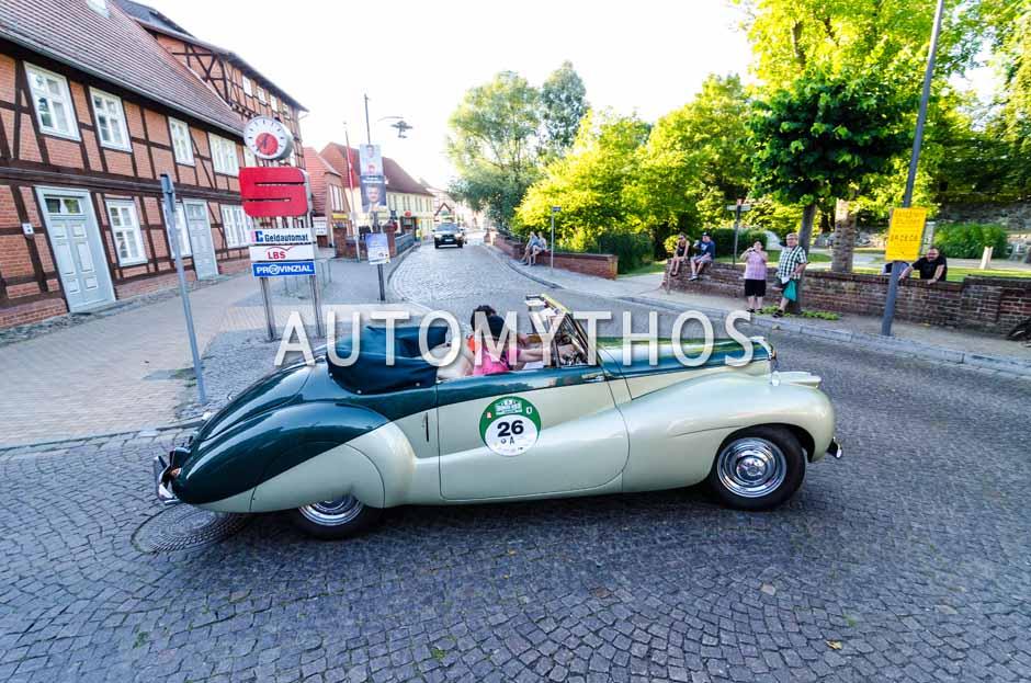 Automythos | 9. Hamburg Berlin Klassik 2016 | 26 | Christoph Kroschke & Dr. Christian Malorny | Daimler DB 18 Sport Cabriolet