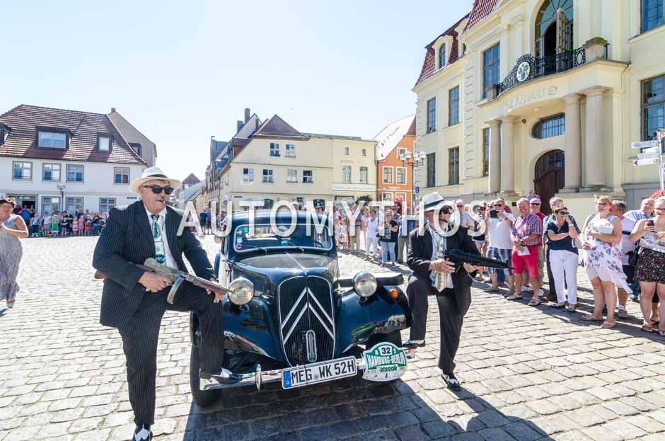 Automythos | 9. Hamburg Berlin Klassik 2016 | 32 | Wolfgang Kerst & Norbert Hellmer | Citroën 11B Koffermodell