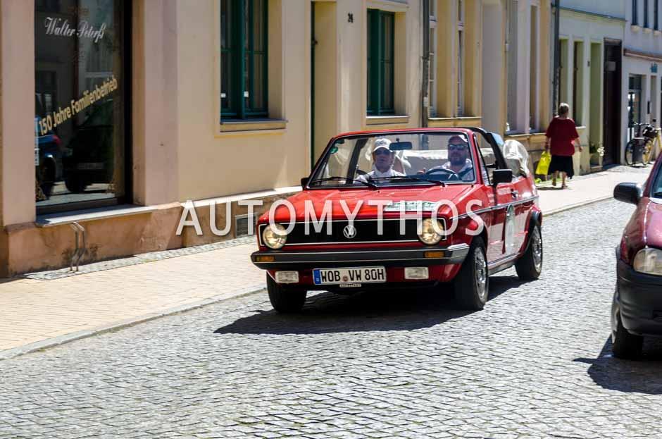 Automythos | 9. Hamburg Berlin Klassik 2016 | 44 | Bernd Wieland & Alan Hadjio | Volkswagen Golf I Cabriolet