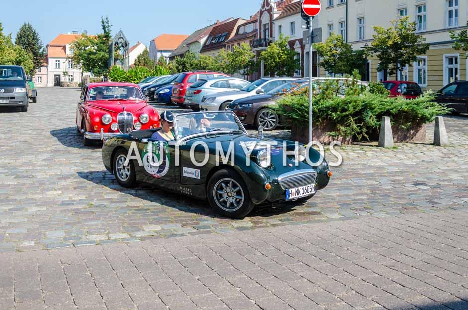 Automythos | 9. Hamburg Berlin Klassik 2016 | 64 | Nina Kurth & Miriam Franke | Austin-Healey Sprite Mk I