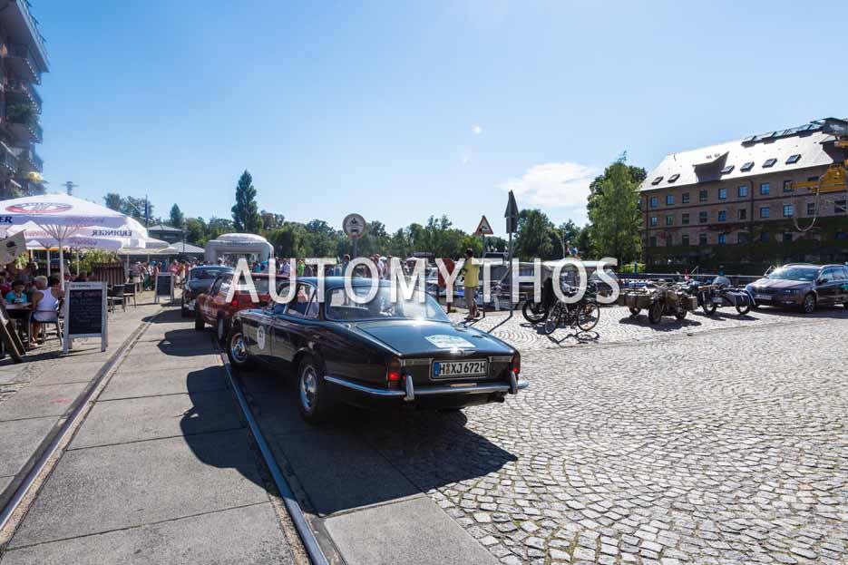 Automythos | 9. Hamburg Berlin Klassik 2016 | 121 | Martin Firnhaber & Frauke Wandrey | Jaguar XJ6 Series 1
