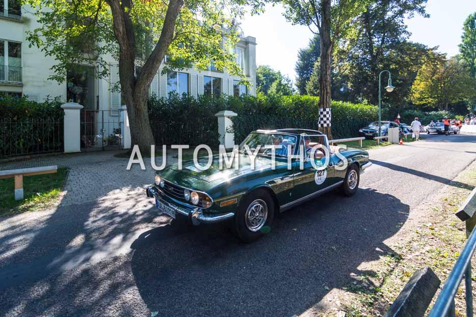 Automythos | 9. Hamburg Berlin Klassik 2016 | 127 | Heiko Baumfalk & Dr. Johann Strandborg | Triumph Stag