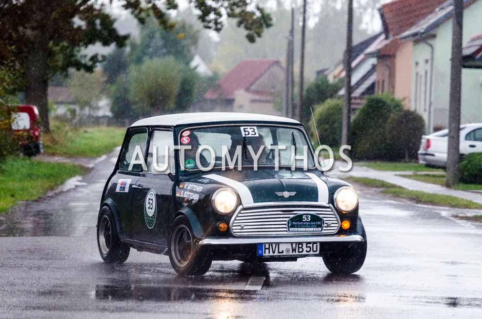 Automythos | 1. Herbstrallye des CRC 2016 | 53 | Wolf Böttcher & Sanja Böttcher | Rover Mini Cooper