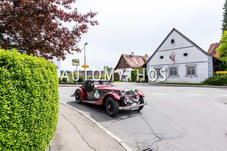 Automythos | 6. Bodensee Klassik 2017 | 7 | Rolf Aeschlimann & Max Hupmann | Alvis Speed 25 Special & Golf 1 Cabriolet