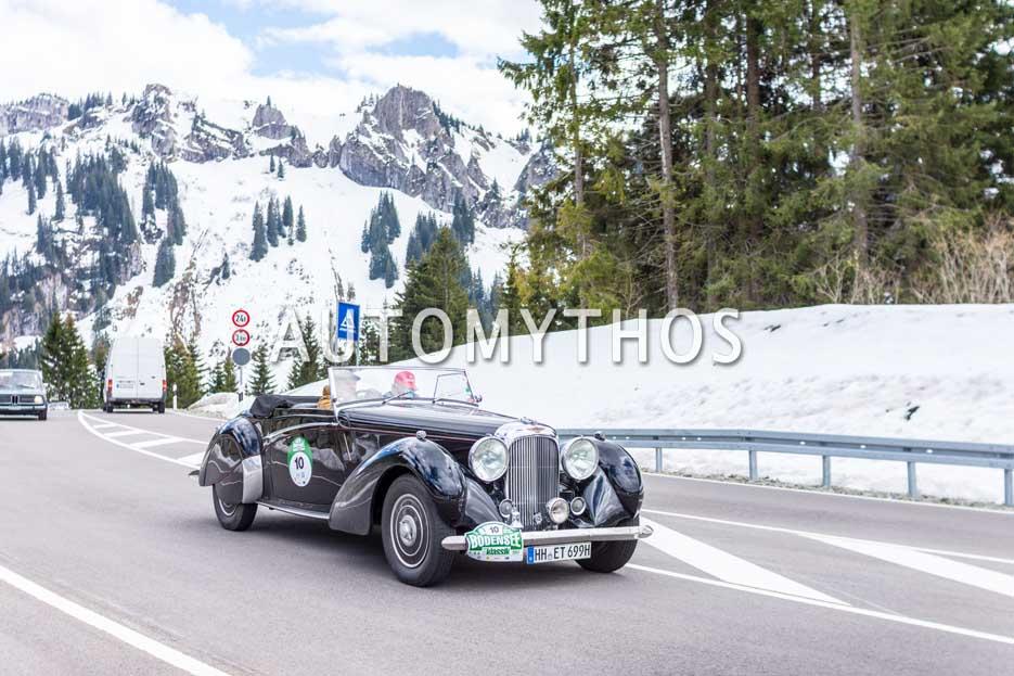 Automythos   6. Bodensee Klassik 2017   10   Eberhard Thiesen & Joachim von Finkenstein   Lagonda LG6 Rapid