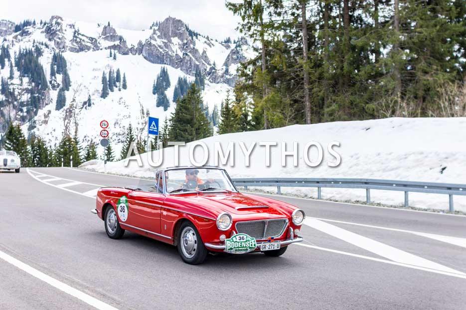 Automythos | 6. Bodensee Klassik 2017 | 36 | Reto-Andreas Hosig & Reto Cavalleri | Fiat 1200 Spider