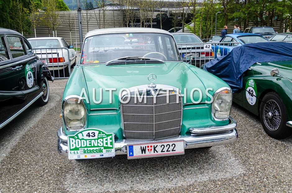 Automythos   6. Bodensee Klassik 2017   43   Dr. Norbert Griesmayr & Ferdinand Baumgartner   Mercedes-Benz 220 Sb
