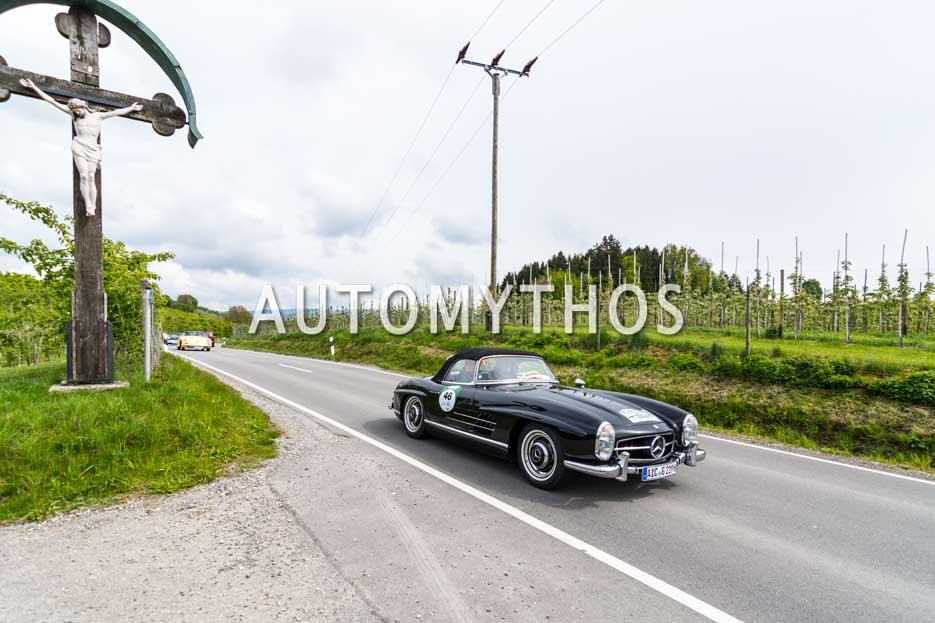 Automythos | 6. Bodensee Klassik 2017 | 46 | Werner Grau & Gabriele Grau | Mercedes-Benz 300 SL Roadster