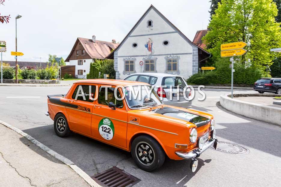 Automythos | 6. Bodensee Klassik 2017 | 122 | Peter Heidegger & Carolin Gomm | Simca Rallye 2