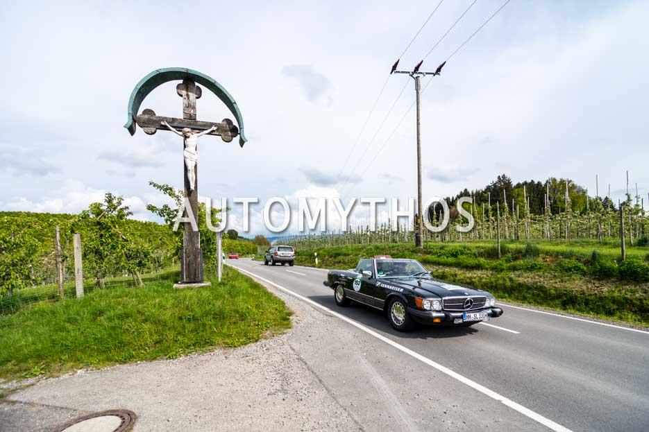 Automythos   6. Bodensee Klassik 2017   153   Stefan Grewe & Michaela Schöttle   Mercedes-Benz 380 SL