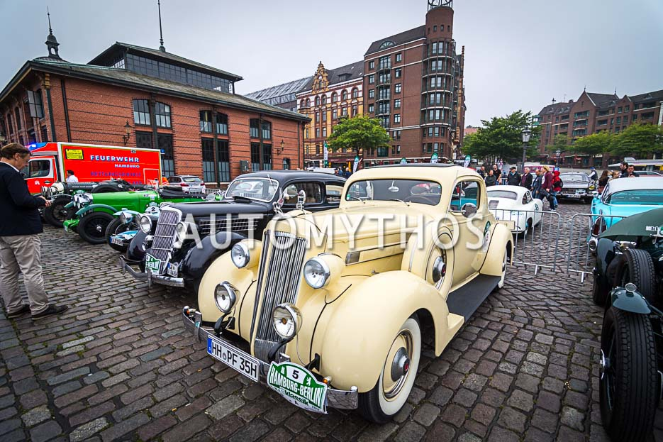 Automythos | 10. Hamburg Berlin Klassik 2017 | 5 | Frank Holland & Petra Holland | Packard 120 Eight Business Coupe
