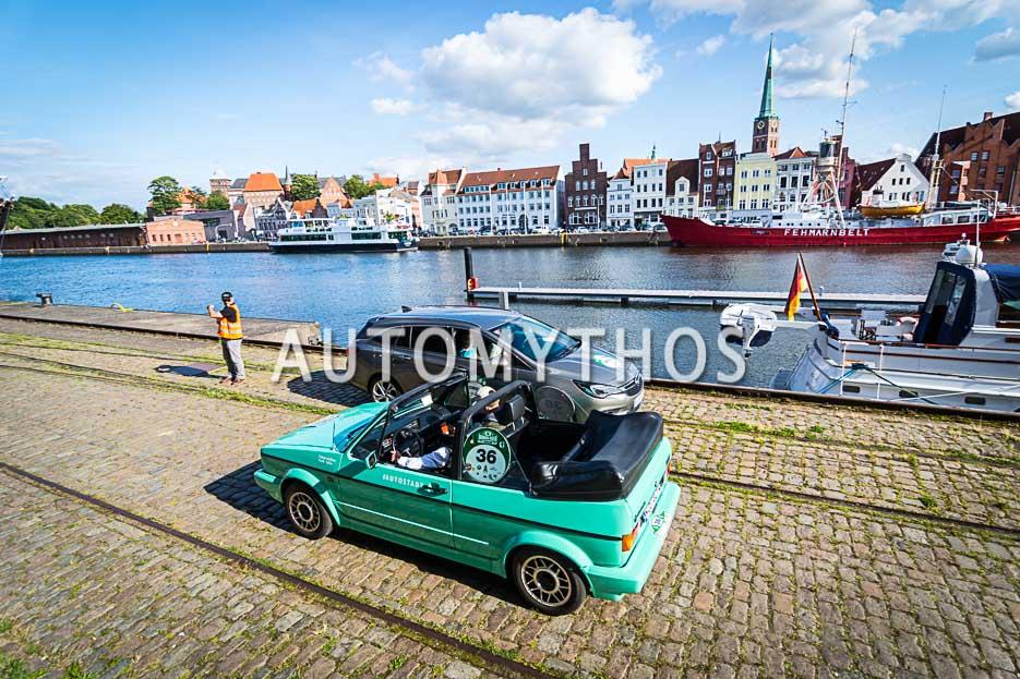 Automythos | 10. Hamburg Berlin Klassik 2017 | 36 | Fabian Meßner & Frank Salvo | Volkswagen Golf I Cabriolet