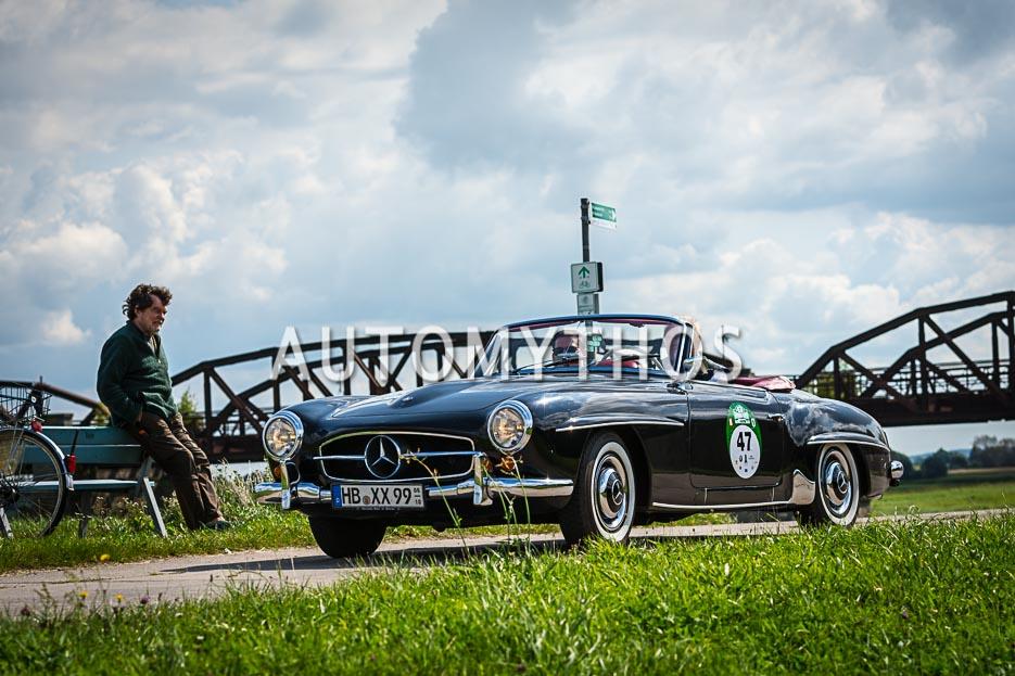 Automythos | 10. Hamburg Berlin Klassik 2017 | 47 | Dr. Georg Garrels & Sven Garrels | Mercedes-Benz 190 SL