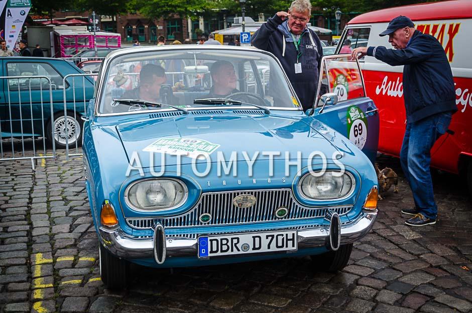 Automythos   10. Hamburg Berlin Klassik 2017   69   Daniel Mielke & Arnd Rosenau   Ford Taunus 17M P3