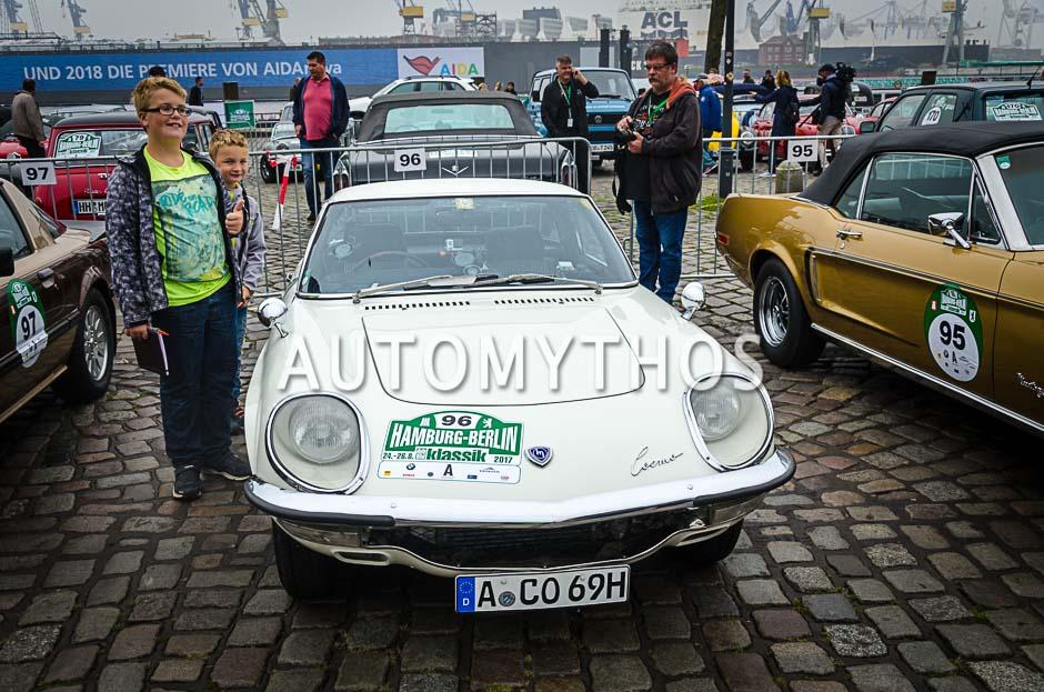 Automythos | 10. Hamburg Berlin Klassik 2017 | 96 | Cyndie Allemann & Det Müller | Mazda Cosmo 110 S