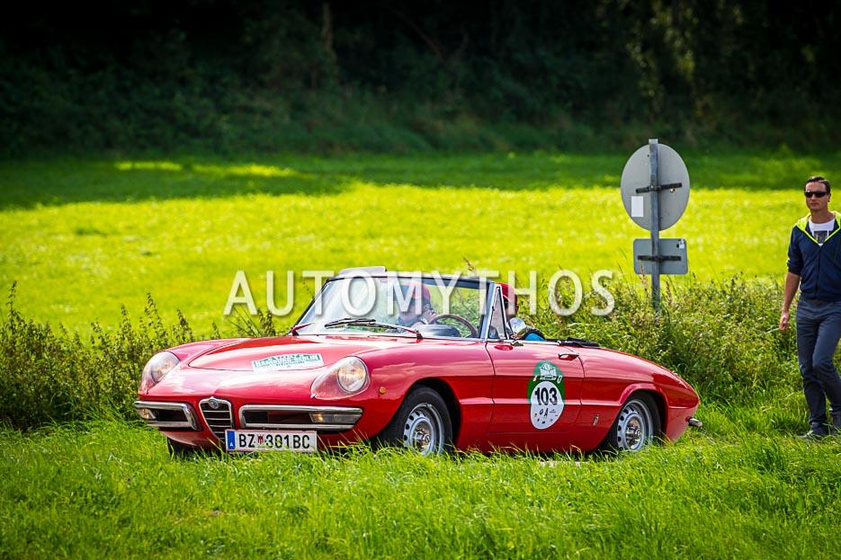 Automythos | 10. Hamburg Berlin Klassik 2017 | 103 | Milko Agueci & Yvonne Grabher-Agueci | Alfa Romeo Spider Duetto 1750