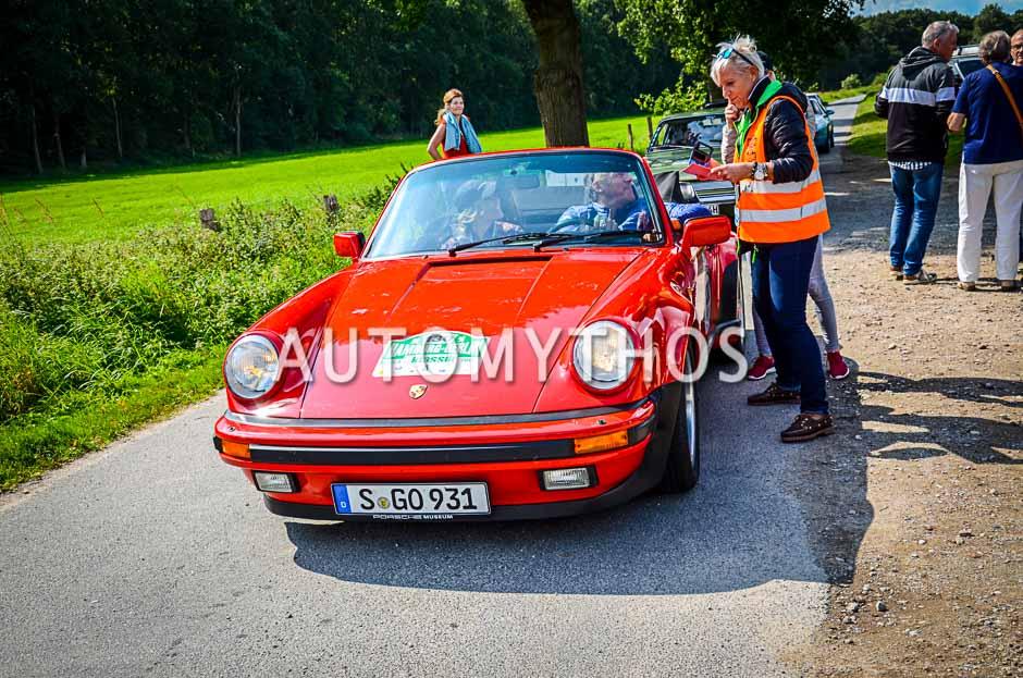 Automythos | 10. Hamburg Berlin Klassik 2017 | 130 | Ralf Moeller & Eve Scheer | Porsche 911 Turbo Cabriolet
