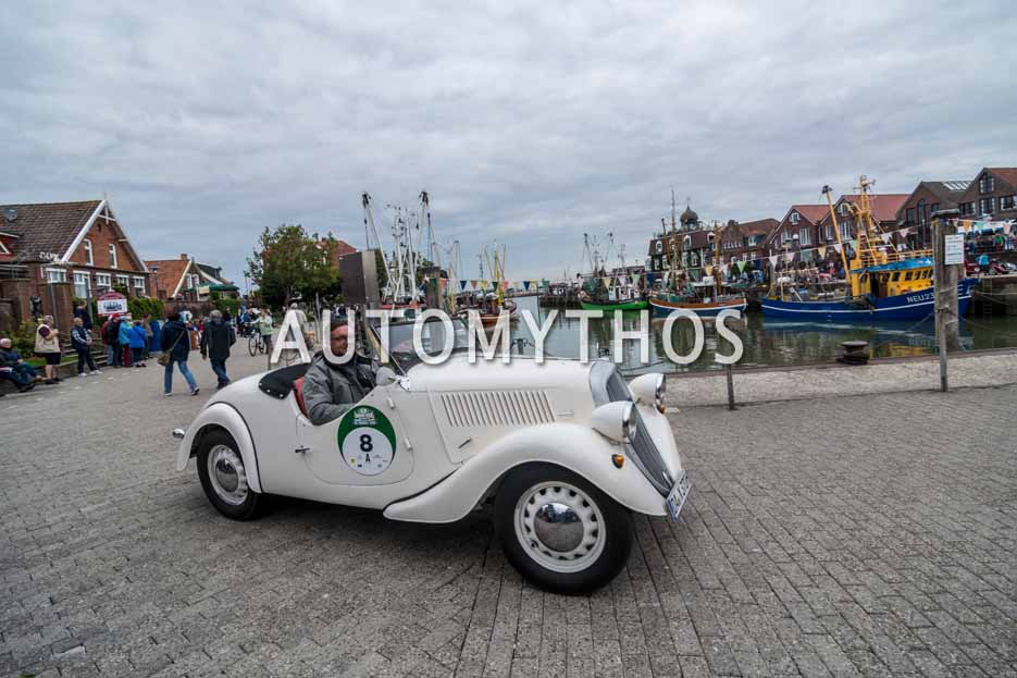 Automythos | 11. Hamburg Berlin Klassik 2018 | 8 | Matthias Kahle & Kim Becker | Skoda Popular Roadster